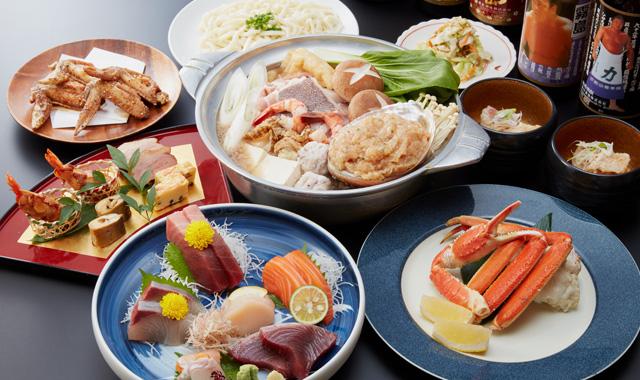 【宴会コース】 ちゃんこ鍋のほか、季節のお刺身を楽しめる各種コース。そして法事・法要にピッタリのコースがございます。